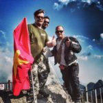 Rally organisers on top of Fansipan rallyindochina greatridegreatcause fansipan sapahellip